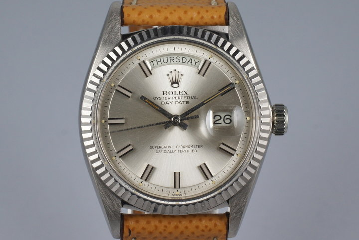 1972 Rolex WG Day-Date Wide Boy Sigma Dial 1803 photo