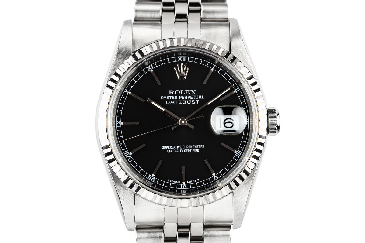 1997 Rolex DateJust 16234 Black Dial photo, #0