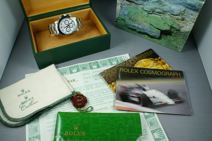 "Rolex SS Zenith Daytona 16520 ""white dial "" Box and Papers photo"