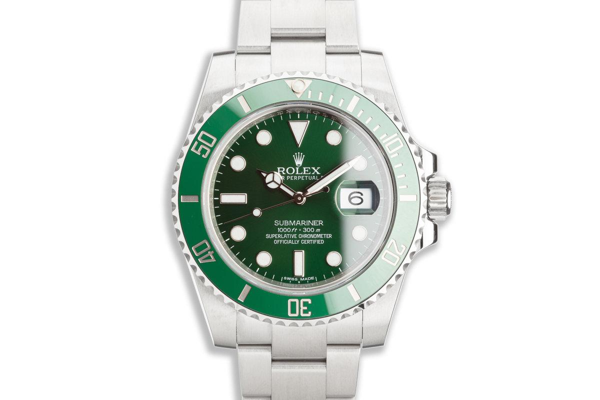 "2014 Rolex Green Submariner 116610LV ""Hulk"" with Box & Card photo, #0"