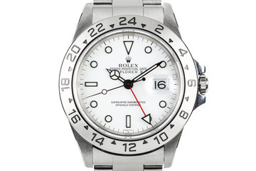 1999 Rolex Explorer II 16570 White SWISS Only Dial photo
