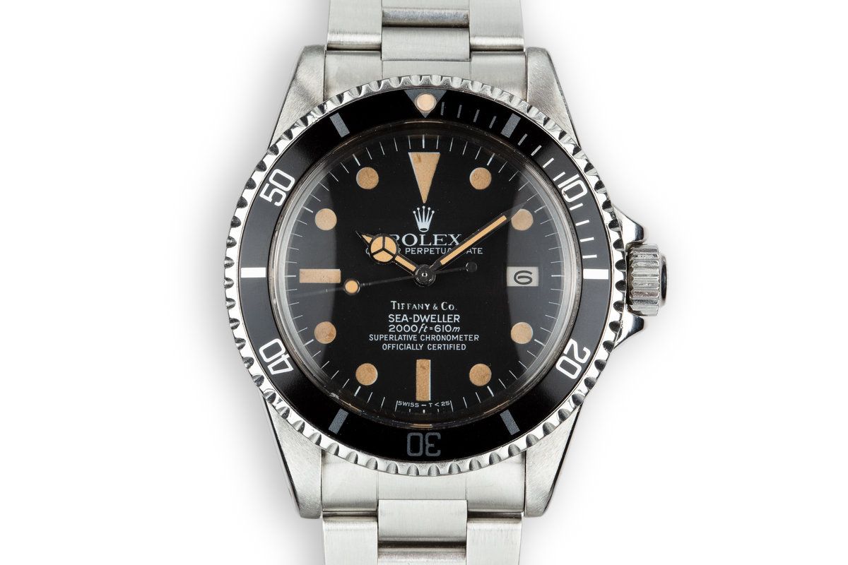 1981 Rolex Sea Dweller 1665 Mark IV Tiffany & Co. Dial photo, #0