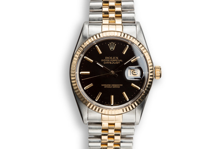 1987 Rolex Two-Tone DateJust 16013 Black Dial photo