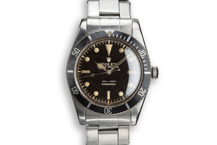 """1958 Rolex Submariner 5508 with """"Black Thorn"""" Dial photo"""