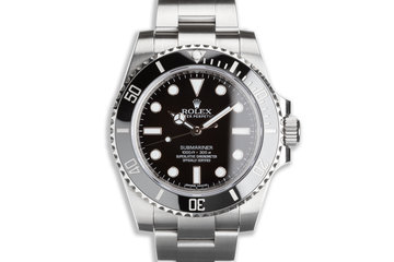 2017 Rolex Submariner No-Date 114060 with Box & Card photo