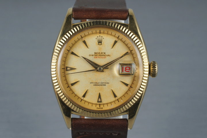 1954 Rolex 18K YG Datejust 6305-1 photo