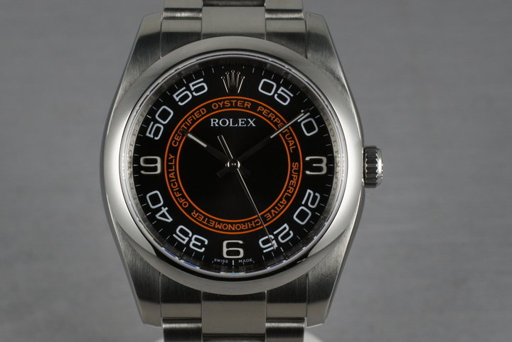 Rolex Oyster 116000 Concentric Orange and Black Dial photo