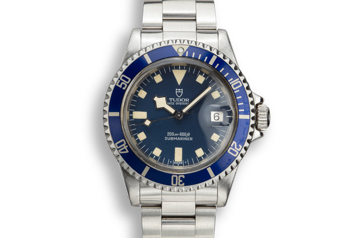 1981 Tudor Snowflake Submariner 94110 Blue Dial photo