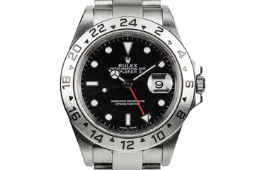 2002 Rolex Explorer II 16570 with Black Dial photo