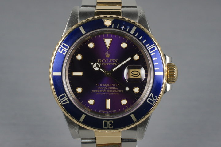 1987 Rolex Two Tone Blue Submariner 16803 photo
