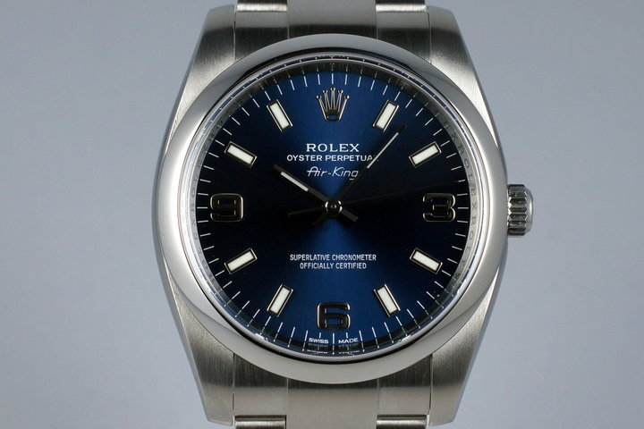 2015 Rolex Air King 114200 Blue Dial photo