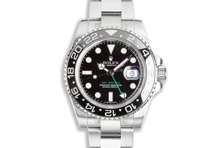 2009 Rolex GMT-Master II 116710LN Black Bezel with Box & Card photo