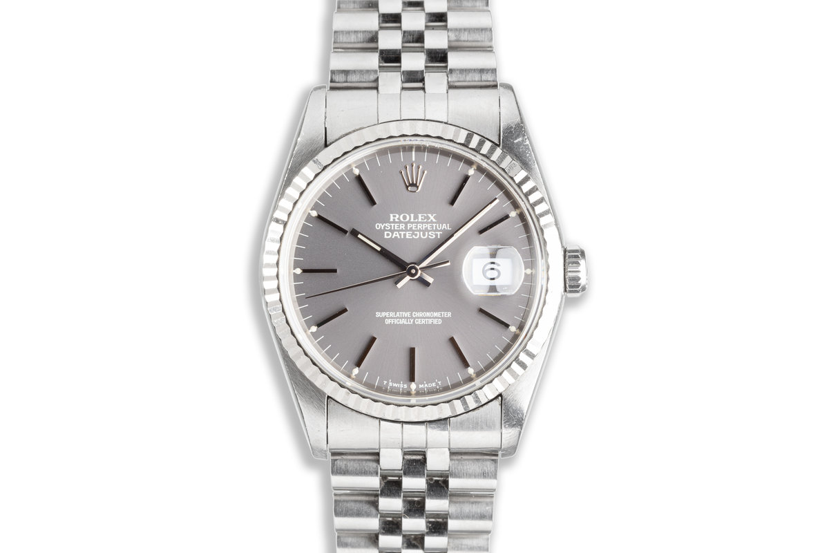1994 Unpolished Rolex DateJust 16234 with Gray Dial photo, #0