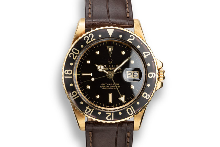 1969 Rolex 18K YG GMT-Master 1675 with Black Nipple Dial photo