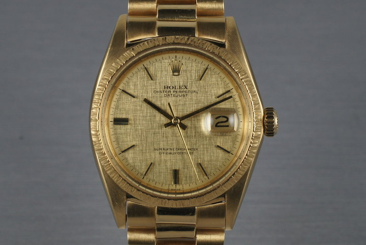 1969 Rolex YG DateJust 1607 with Box and Papers photo