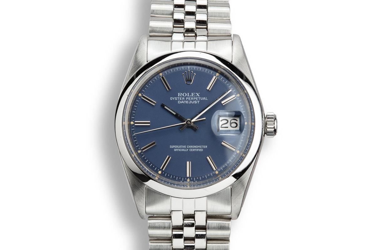 1974 Rolex DateJust 1600 Blue Dial photo, #0