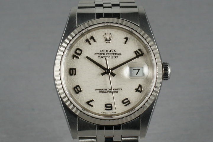 Rolex Datejust 16234 with jubilee dial photo
