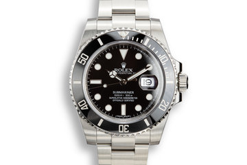 2015 Rolex Ceramic Submariner 116610 with Box and Papers photo
