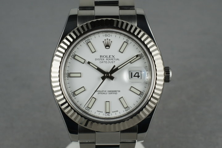 2011 Rolex Datejust  II 116334 with White Dial photo