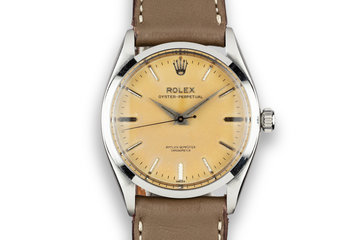 "1957 Rolex Oyster-Perpetual 6564 Tropical Dial with ""Amtlich Geprufter Chronometer"" photo"