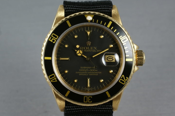 1984 Submariner 18K 16808 with Black Nipple Dial photo