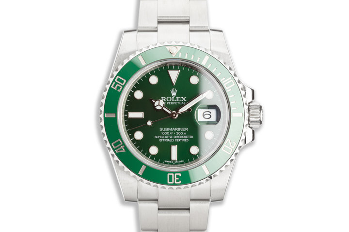 "2014 Rolex Green Submariner 116610LV ""Hulk"" with Box & Card photo"