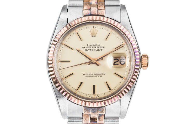 1972 Rolex Two-Tone DateJust 1601 with Matte Champagne Dial photo