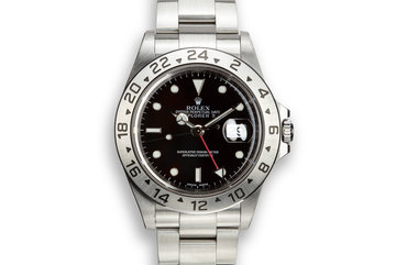 2001 Rolex Explorer II 16570 Black Dial with Box and Papers photo