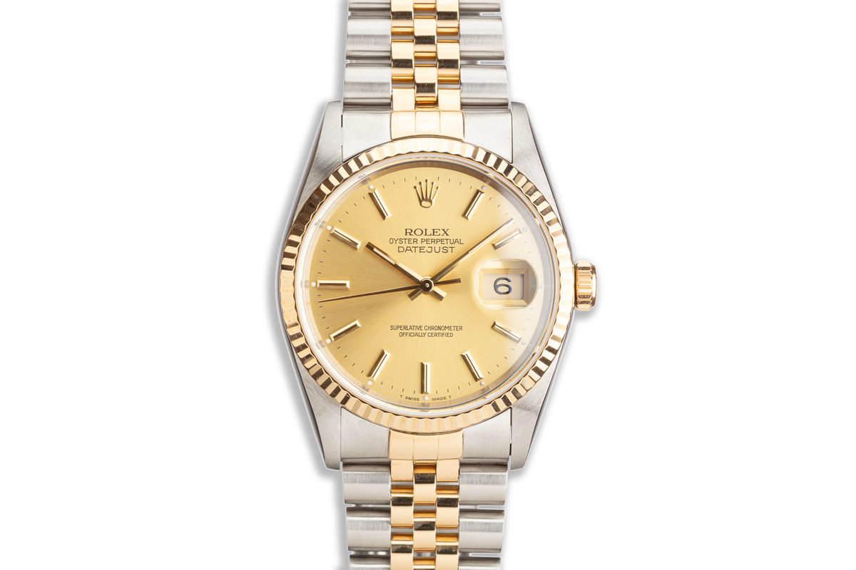 1991 Rolex Two-Tone DateJust 16233 Champagne Dial Box & Papers photo, #0