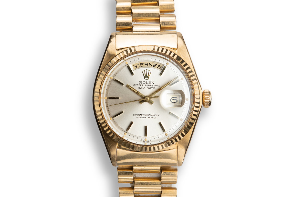 1967 Rolex 18K YG Day-Date 1803 Silver Dial photo, #0