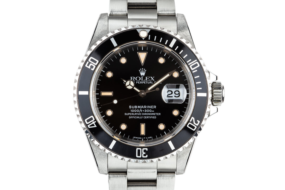 1989 Rolex Submariner 16610 with Box and Papers photo, #0