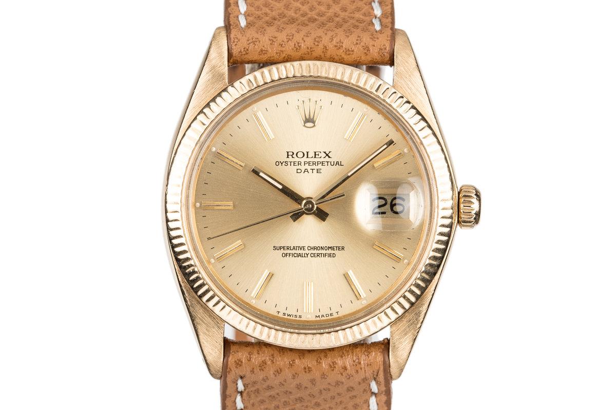 1978 Rolex 18K Date 1503 photo, #0