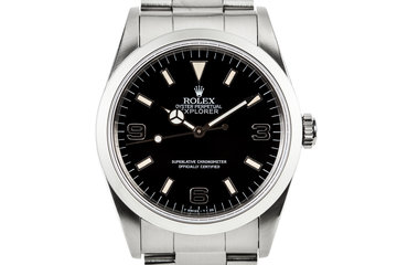 1991 Rolex Explorer 14270 with 'Black Out' Dial photo