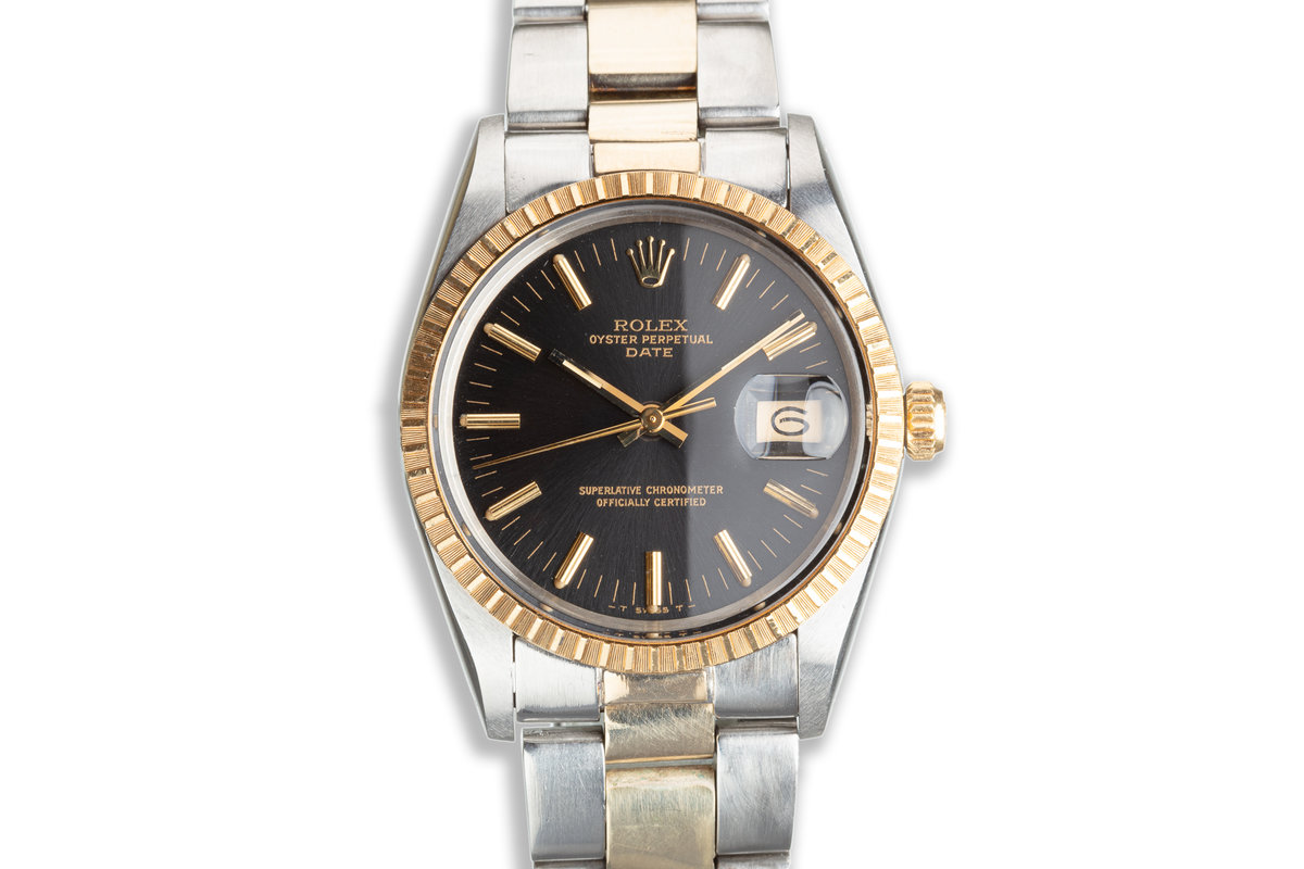 1985 Rolex Two-Tone Oyster Perpetual Date with Black Dial photo, #0