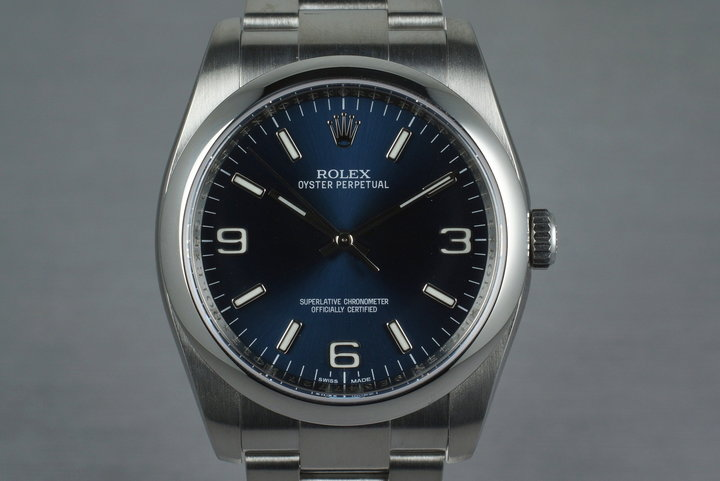 2014 Rolex Oyster Perpetual 116000 with Box and Papers photo