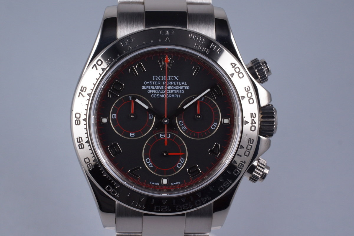 2007 Rolex WG Daytona 116509 Black Dial with Box and Papers photo, #0