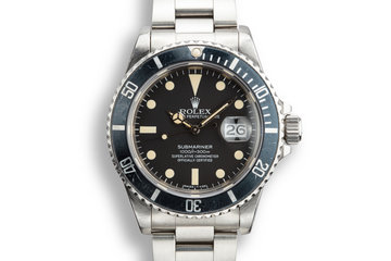 1983 Rolex Submariner 16800 Matte Dial with Box and Papers photo