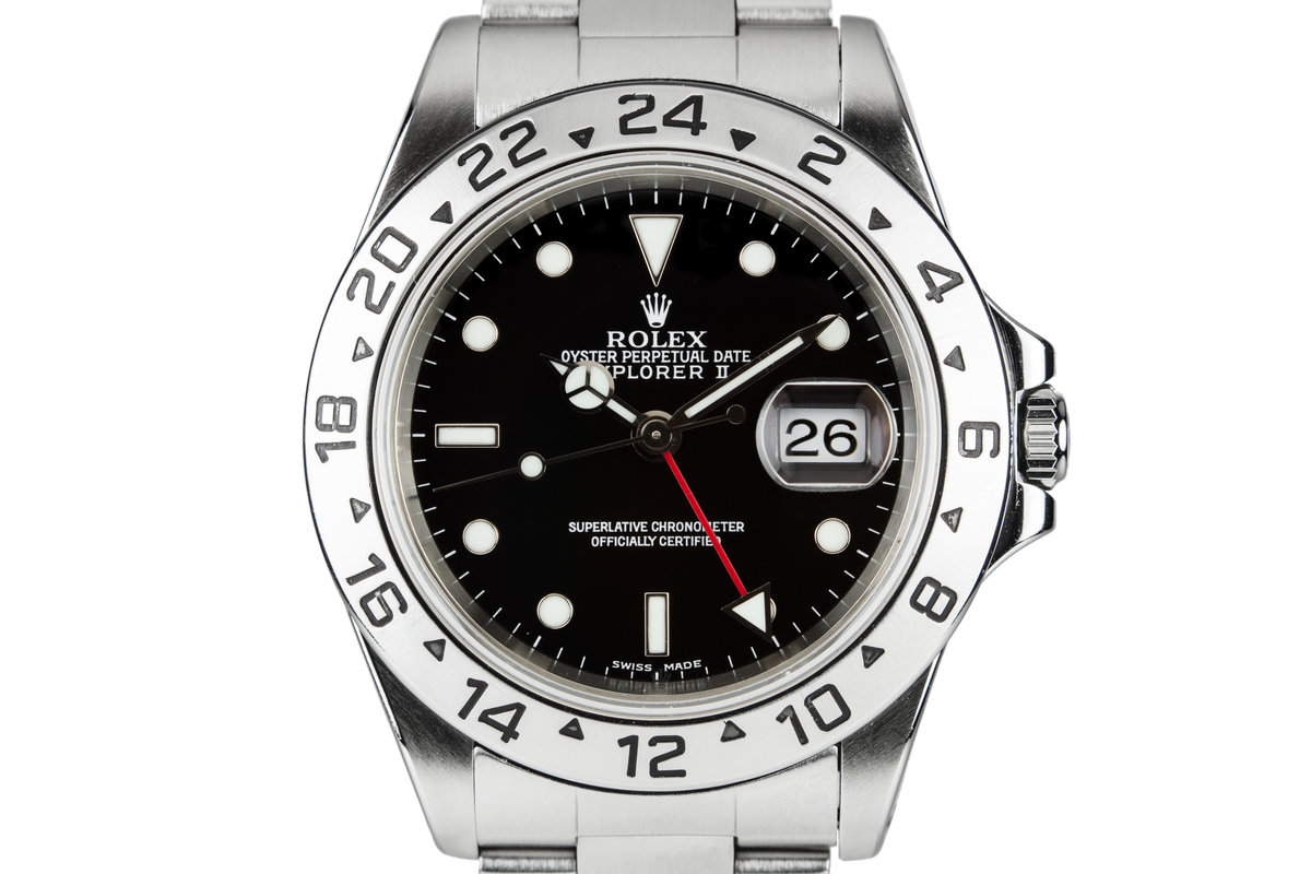 1999 Rolex Explorer II 16570 Black Dial photo, #0
