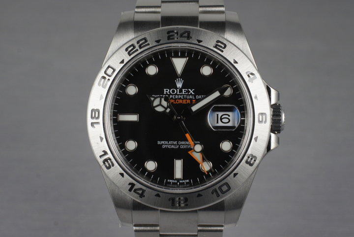 2014 Rolex Explorer II 216570 with Box and Papers MINT photo