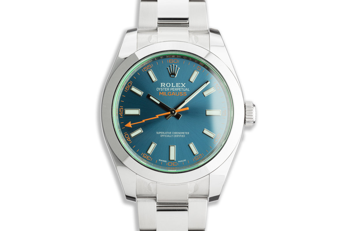 2019 Rolex Milgauss 116400GV Blue Dial with Box and Card photo, #0