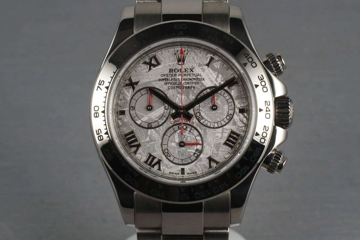 Rolex WG Daytona 116509 Box and Papers and Meteorite Dial photo, #0