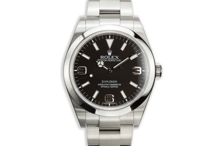 2011 Rolex 39mm Explorer 214270 MK1 Dial with Box and Card photo