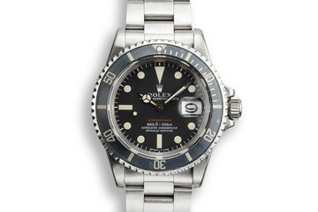 1972 Rolex Red Submariner 1680 with MK V Dial photo