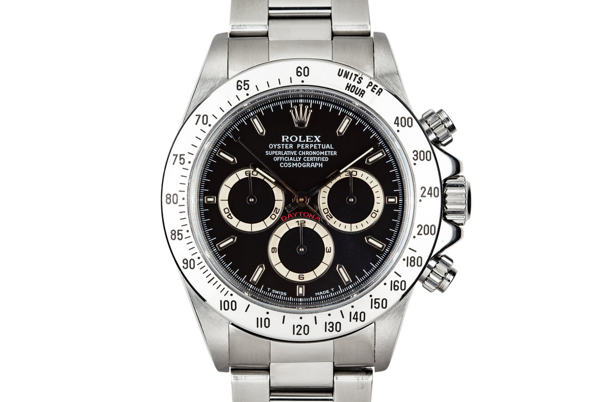 1997 Rolex Daytona 16520 Black Dial with Box and Papers photo, #0