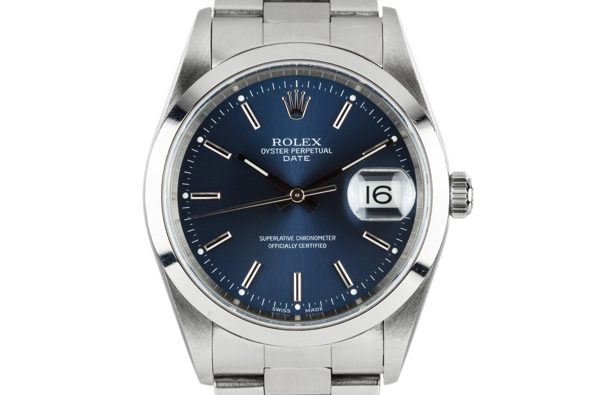2000 Rolex Date 15200 with Blue Dial photo, #0