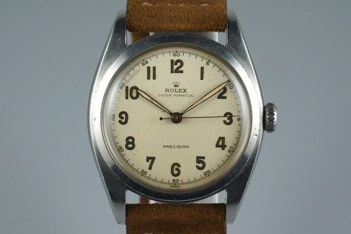 1952 Rolex Oyster Precision 6098 White Arabic Dial photo
