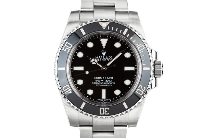 2014 Rolex Ceramic Submariner 114060 with Box and Papers photo