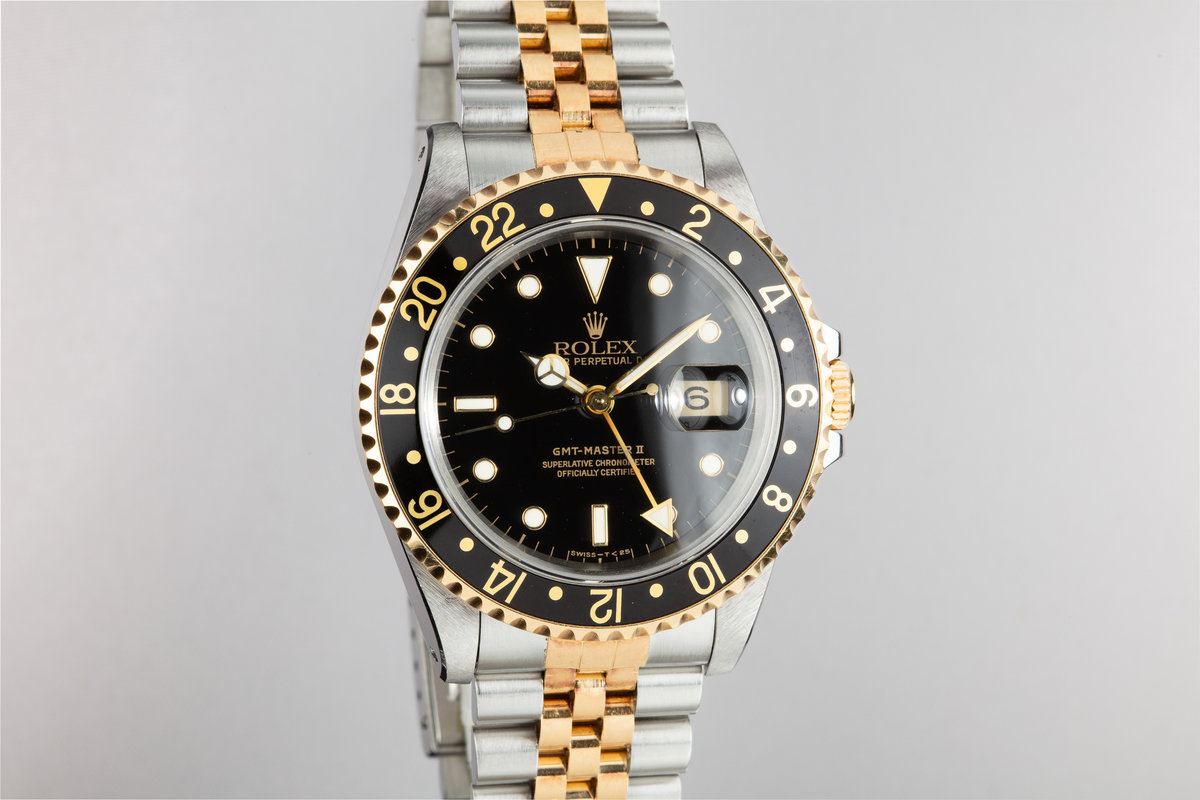 Hq Milton 1989 Rolex Two Tone Gmt Master Ii 16713 Inventory