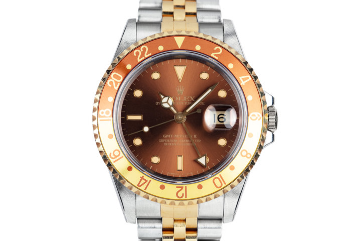 "1991 Rolex Two Tone GMT-Master II 16713 ""Rootbeer"" photo"