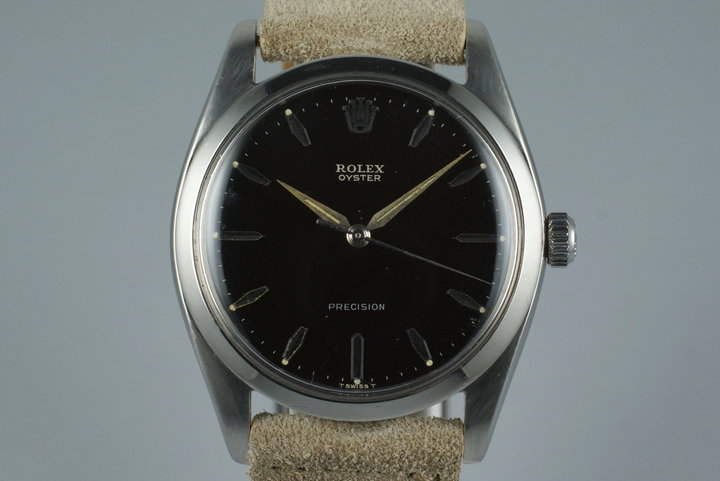 1961 Rolex Oyster Precision 6424 with Black Gilt Dial photo